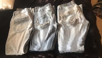 3 pair of Men's BKE Buckle Jeans size 30&31