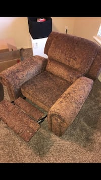 brown and beige floral fabric sofa chair Edmond, 73034