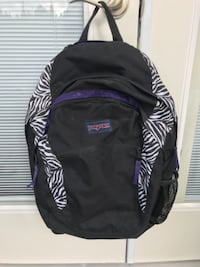 black and purple Jansport backpack VANCOUVER