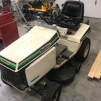 white and green ride on mower Columbus, 53925