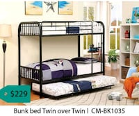 Bunk bed twin over twin  La Mirada