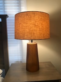 brown and white table lamp 24 km