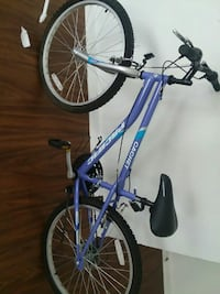 purple and white Pacific brand bicycle