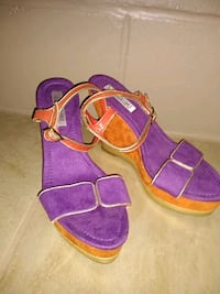 purple-and-yellow open toe ankle strap sandals Lakeland, 33810