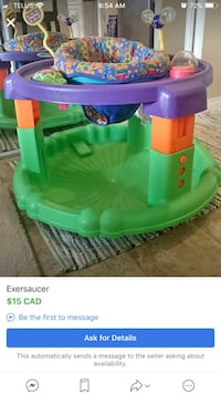 Green and purple plastic toy