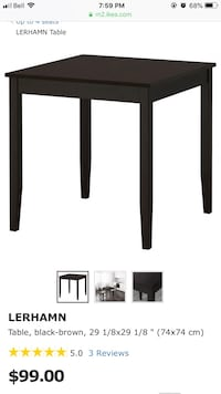 Ikea dining table and 4 chairs (2 white + 2 black). Excellent condition. Can deliver to a reasonable distance. Vancouver, V5R