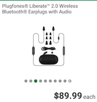 Plugfones Liberate 2.0 wireless Bluetooth Noise cancelling Earplugs