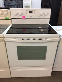 Whirlpool white glass top stove  Pompano Beach, 33069