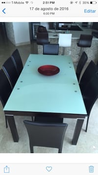 Black and white wood dining set + 2 extra tables Madrid, 28014
