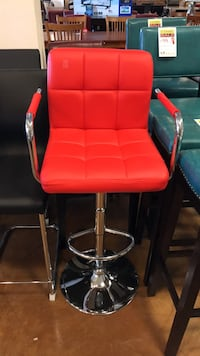 Red Bar Stools With Adjustable Height