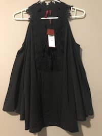 New with Tag Black cold shoulder blouse. Toronto, M9W 5Z3
