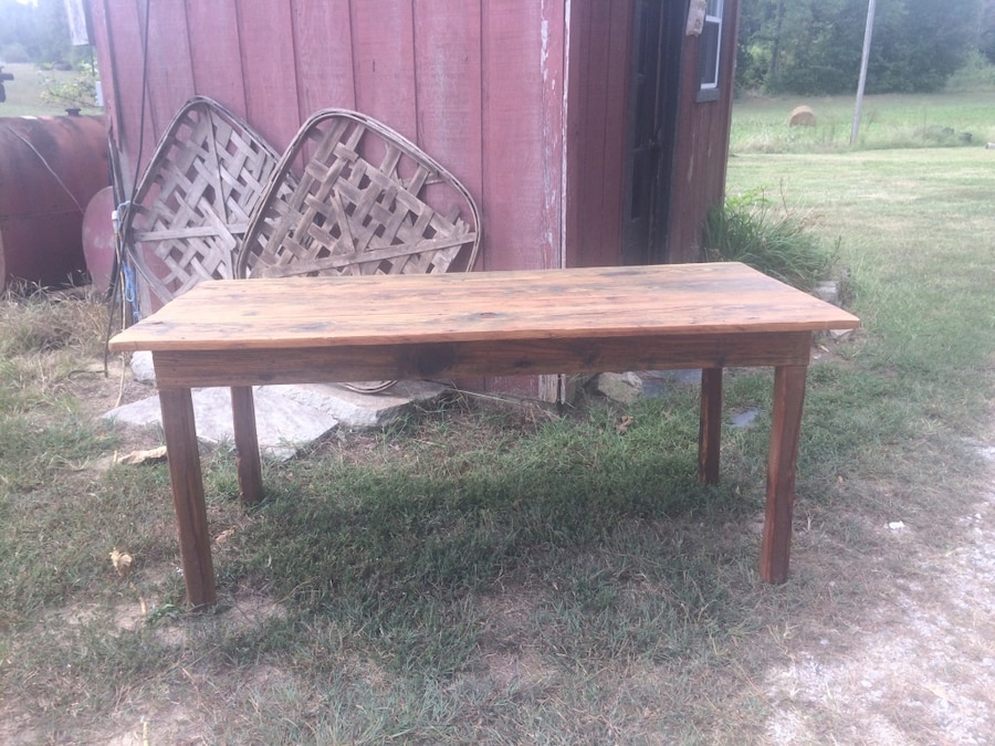 Salvaged Church Pew Handmade Farm Table