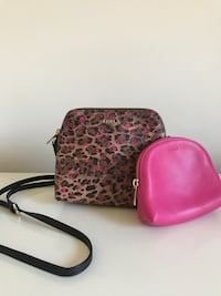 pink and black leopard print leather wristlet Arlington, 22202