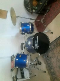 blue and black drum set Kendall, 33156