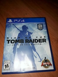 Tomb raider PS4 game case Waterloo, N2L