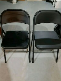 Black Metal Folding Chairs $5 for both - Porch Pickup