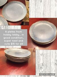 6 PLATES FROM HOBBY LOBBY.. GOOD CONDITION.. SUPER NEAT AND CUTE .. PICK UP IN MBORO $15 obo