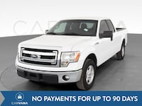 2013 Ford F150 Super Cab pickup XLT Pickup 4D 6 1/2 ft White <br Jeffersontown