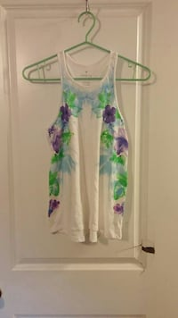 white, green and purple floral tank top Lakeshore, N0R 1A0