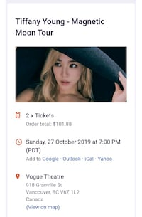 Tiffany Young-Magnetic Moon Tour tickets Calgary, T3J 2T6