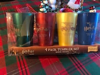 Brand New! Harry Potter 4 cup/House Tumbler set. Purchased from Universal Studios Florida.  Tampa, 33624