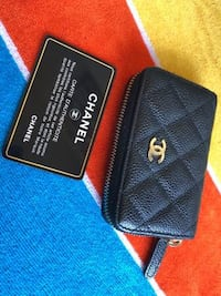 Chanel Black Leather with Gold Hardware Classic Zip Around Coin Purse Anaheim, 92801