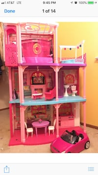 Pink, white, and blue plastic dollhouse South San Francisco, 94080