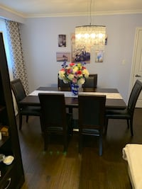Dining table and chairs with hutch Toronto, M9L 2R1