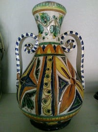 brown, green, and blue floral ceramic vase Tucson, 85711
