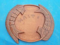 Large Handcarved Wooden tray Waldorf, 20603