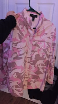 pink and white camouflage zip-up hoodie Edmonton, T6X 0H2