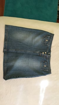 Blue denim jeans skirt - size 13