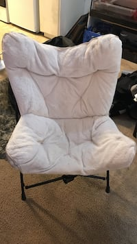 White fluffy chair Los Angeles, 91405