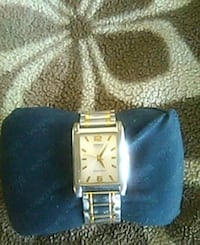 square gold analog watch with gold link bracelet Tempe, 85283