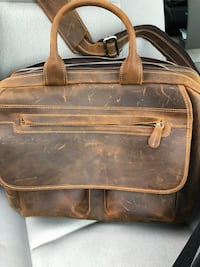 brown leather 2-way bag Round Rock, 78681