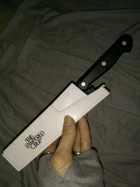 Pampered chef knife with sharpener