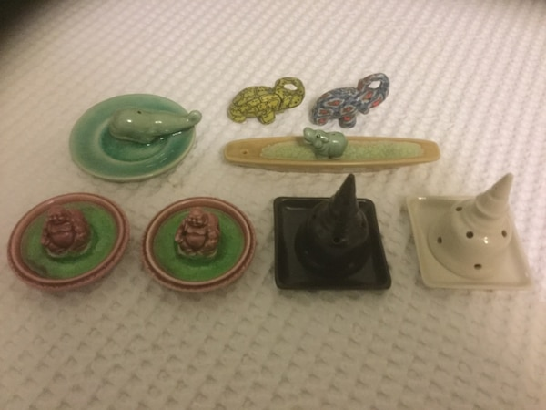 assorted ceramic incense holders......New ( original price was $6.99 each )