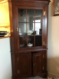 Cherry Corner Cupboard with light Hagerstown