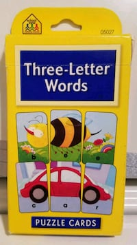 Puzzle Cards!! Three-Letter Words. In Good Shape!