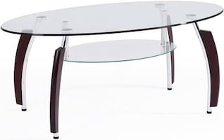 Living room tempered glass table