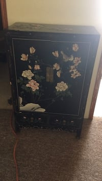 Black and white floral cabinet Youngsville, 27596