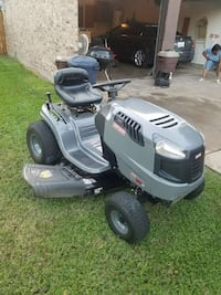 gray Craftsman riding  mower