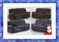 Grey or chocolate recliner set free delivery  Temple Hills
