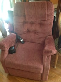 brown suede padded sofa chair Gaithersburg