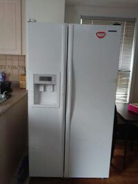 white side-by-side refrigerator with dispenser Brampton, L6X 1Y2