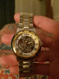 Gold and white mechanical watch Fairmont, 26554