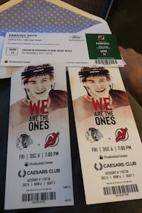 Devils tickets and parking pass private Caesar's club with food/drink Waldwick, 07463