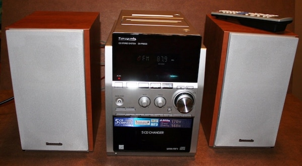 Panasonic SA PM533 CD MP3 TAPE FM Radio BookShelf Stereo System W