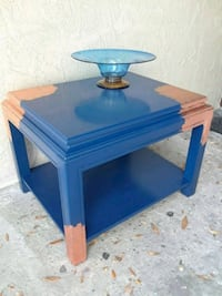blue and brown wooden table Clearwater, 33764