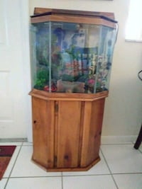 brown wooden framed clear glass fish tank Lake Worth, 33460